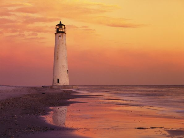 Cape St. George Lighthouse, Gulf of Mexico, Apalachicola, Florida